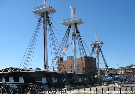 Photo of USS Constitution dockside in the Charlestown Navy Yard - www.boston-discovery-guide.com