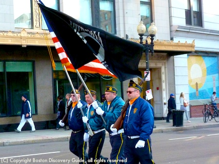 POW-MIA flag in Boston Veterans Day Parade