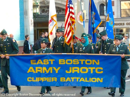 East Boston Army JROTC's Clipper Battalion in Veterans Day Parade Boston