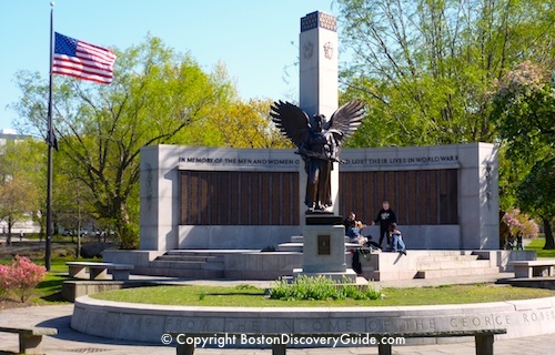 World War II memorial in Boston's Back Bay Fens