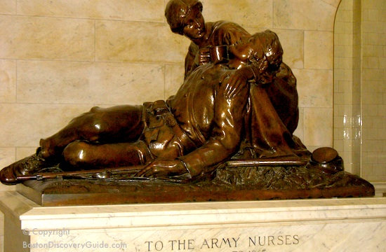 Boston memorial to Army nurses during the Civil War