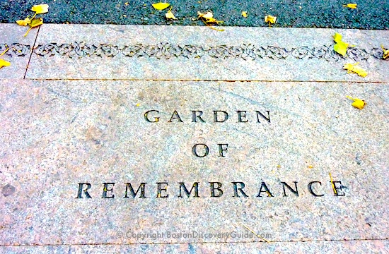 Garden of Remembrance in the Public Garden in Boston