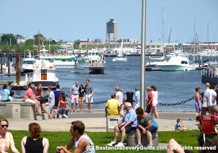 Boston Waterfront on Memorial Day weekend