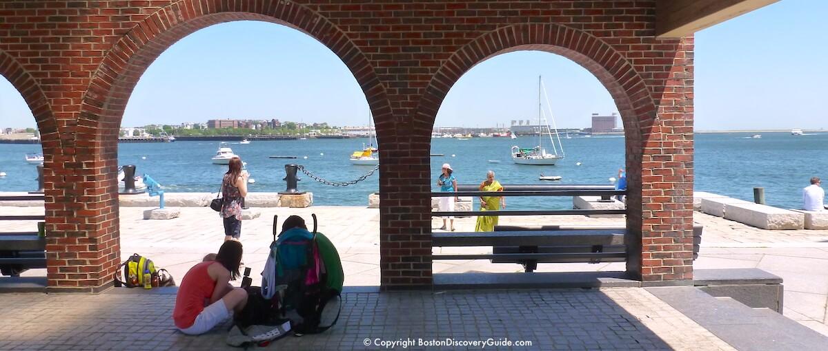Harborwalk overlooking Boston Harbor