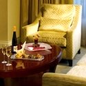 Enjoy champagne in your room in the Ritz Carlton Boston