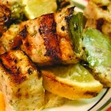 Grilled swordfish recipe with bay leaves and lemon