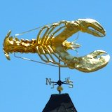 Lobster weathervane at James Hook Lobsters in Boston
