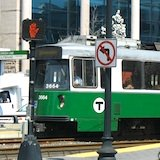 Boston Subway's Green Line / E train near Northeastern University