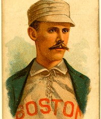 Vintage baseball card - John Clarkson, pitcher for the Boston Beaneaters, about 1887