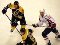 Photo of Boston Bruins playing at the Garden