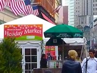 Holiday Market in Boston's Downtown Crossing