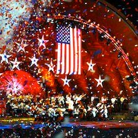 Boston Pops concert on July 4th in Boston, MA