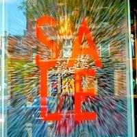 Boston sale sign on Newbury Street