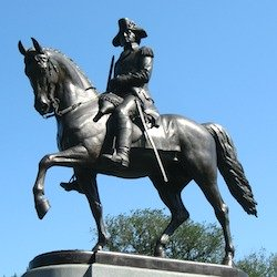 Statue of George Washington in Boston Public Garden