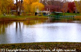 Four Seasons Boston Hotel overlooks Boston Public Garden