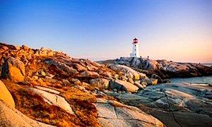 Norwegian Dawn's fall foliage cruises in Boston - lighthouse in Halifax