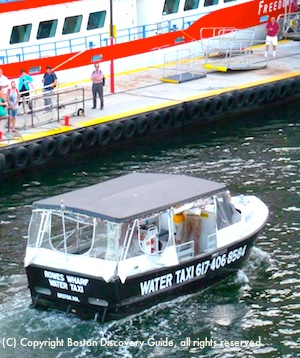 Rowes Wharf water taxi
