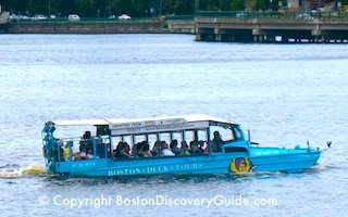 Boston Duck Boat on the Charles River