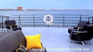 Odyssey cruise ship in Boston Harbor
