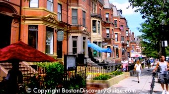 Boston hotels - about half are in fashionable Back Bay