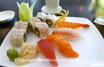 Sushi and sashimi at Basho in Boston's Fenway neighborhood
