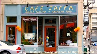Cafe Jaffa in Boston's Back Bay