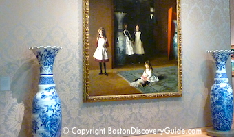 Boston's Museum of Fine Arts - painting in Arts of the Americas Wing