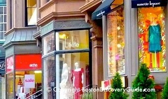 Newbury St Boutiques - Boston shopping destinations