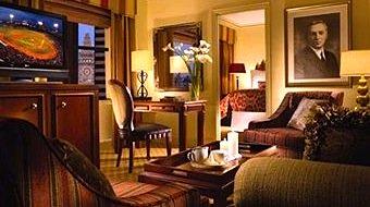 Suite in the Omni Parker Hotel in Boston MA