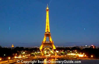 Eiffel Tower in Paris - you can almost see it from Boston!