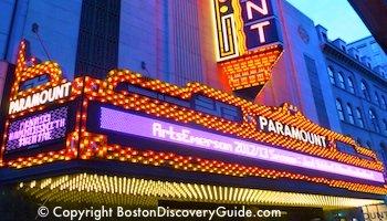Paramount Theatre in Boston's Theatre District