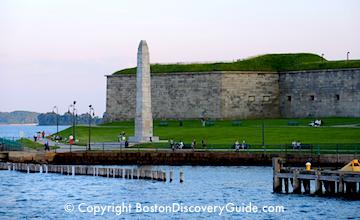 Boston Harbor view of Castle Island