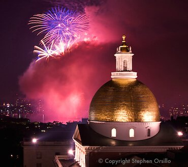 July 4th fireworks in Boston