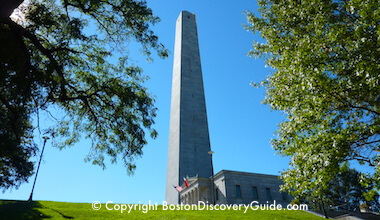 Bunker Hill in Charlestown, MA - part of Boston's Freedom Trail