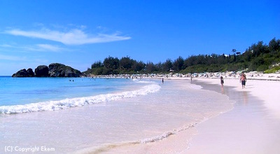 Cruise to Bermuda from Boston and enjoy this pink sand beach