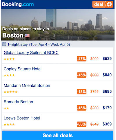 Find Boston hotel bargains, discounts, and deals