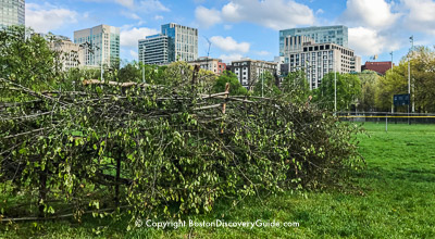 Fish weir on Boston Common - Photo courtesy of Fishweir dot org