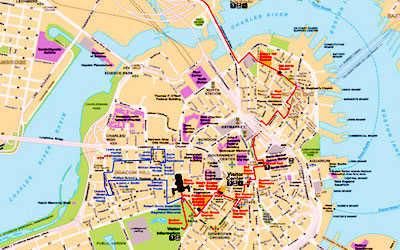 National Park Service downloadable map of Boston