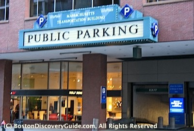CityPlace Garage in the Massachusetts Transportation Building in Boston / Boston Parking Garages near Theatre District - www.boston-discovery-guide.com