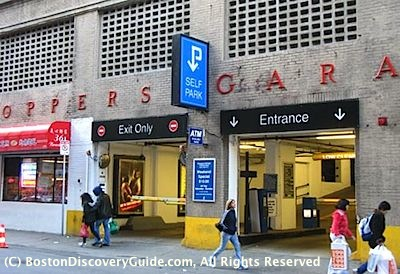 Shoppers Garage (Beach Street Garage) in Boston's Chinatown near Theatre District - Boston Parking Garages near Theatre District
