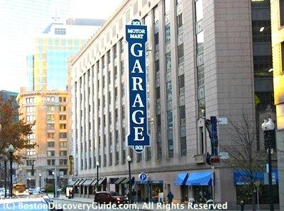 Motor Mart Garage in Boston's Park Square area/ Boston Parking Garages near Theatre District - www.boston-discovery-guide.com