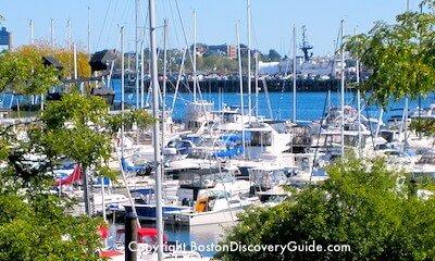 Sailboat on Boston's Charles River