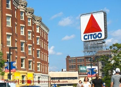 Fenway's famous Citgo sign, photographed from Brookline Ave next to Buckminster Hotel