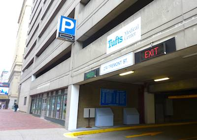 Photo of Tufts Medical Center Garage -  Boston Parking Garages near Theatre District - www.boston-discovery-guide.com