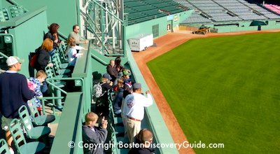 Fenway Park from the top of the Green Monster - July Boston Red Sox schedule