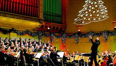 Boston Holiday Pops show at Symphony Hall