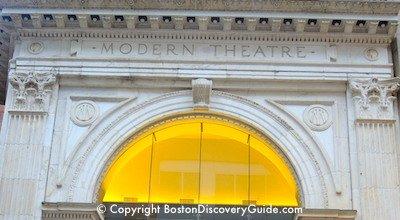 Modern Theatre on in Boston's Theatre District