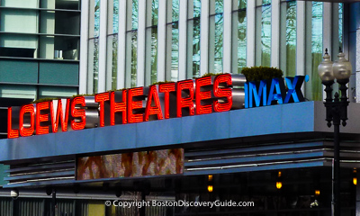Boston nightlife and entertainment - Movie theaters
