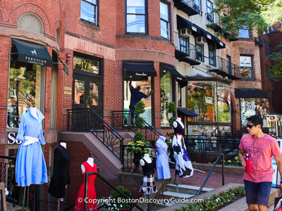 Boston attractions: Newbury Street Boutiques