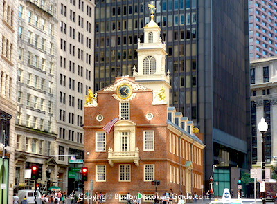 Old Massachusetts State House in Boston